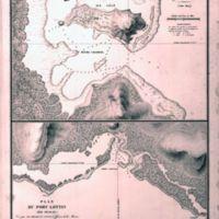 Plan du Havre Chabrol; Plan du Port Lottin (Ile Oualan)