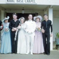 Capt. & wedding party, Pearl Hbr. 21 July 1951