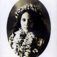 Young girl with lei