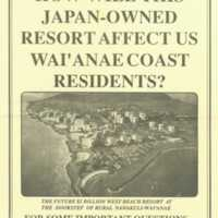 How will this Japan-owned resort affect us Wai'anae…