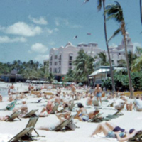 Typical Waikiki scene. June 1951