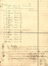 Handwritten table of names and ages of family members. (seven of seven)